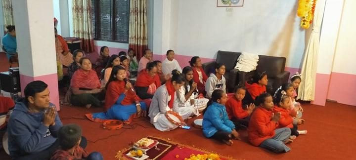 आँबुखैरेनीमा ॐ श्री सत्यसाई बाबाको ९४ औं शुभजन्मोत्सव भव्य रुपले मनाईयो